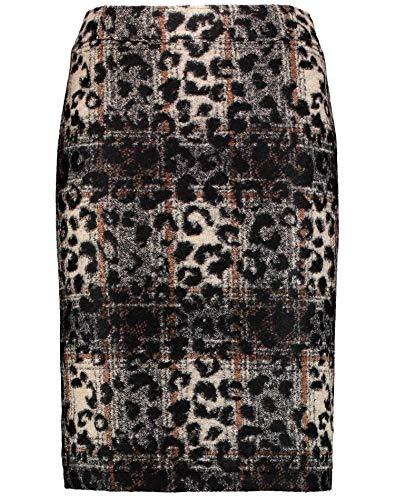 GERRY WEBER Edition Damen 110117-67585 Rock, Mehrfarbig (Beige, Grau, Schwarz 7105), (Herstellergröße: 38)