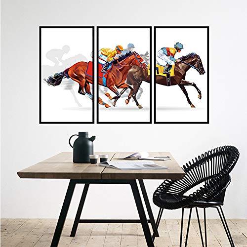 Paard Racing Muursticker Slaapkamer Woonkamer TV Achtergrond Muurdecoratie Sticker Verwijderbare Waterdichte Muursticker