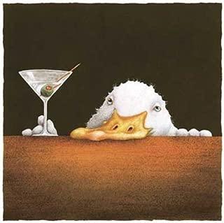 The Bar Bill Will Bullas Drunk Duck Comical Art Print Poster 12x12