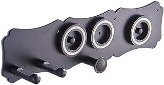 Generic ヘアドライヤーホルダーダイソン超音速ヘアドライヤーオーガナイザー収納棚ウォールマウントスタンドは、カーラーディフューザー2ノズル浴室ヘアサロン - 黒スタイル1