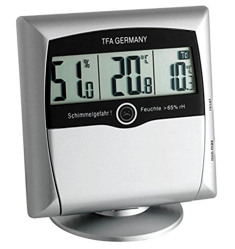 TFA Dostmann digitales Thermo-Hygrometer Comfort Control 30.5011 (Silber)