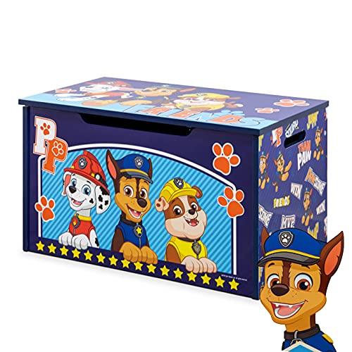 PAW PATROL SPIELZEUGKISTE   Stabile und große Aufbewahrungsbox mit Deckel für Kinder   Spielzeugtruhe bietet Stauraum   Perfekte Aufbewahrung im Kinderzimmer