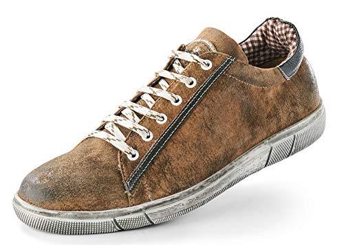 Maddox Herren Trachten Schuhe Sneaker Siegfried - Wood Nappato Gr. 46