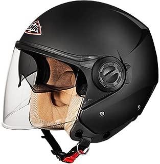 SMK MA200 Cooper Open Face Helmet (Matt Black, L)