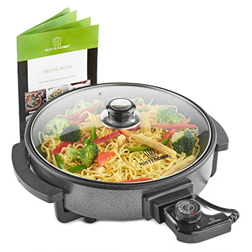 MisterChef® Multi-Function Cooker - Electric Frying Pan Cooker with...