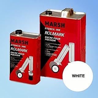 Marsh Rolmark White Ink - Quart