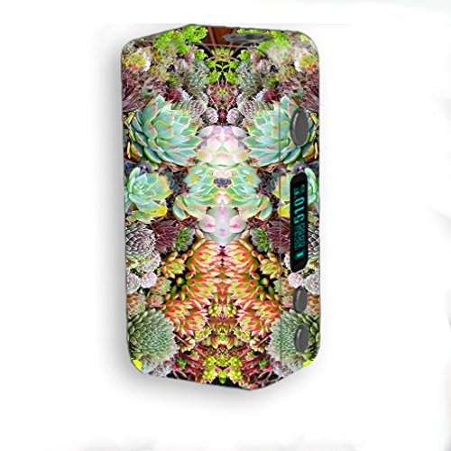 Skin Decal Vinyl Wrap for Smok Kooper Plus 200W Vape Mod Skins Stickers Cover / Succulents floral