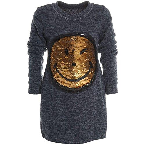 BEZLIT Mädchen Longshirt Bluse Shirt Pullover Langarmshirt Strickkleid Sweatshirt 20676 Blau Größe 104