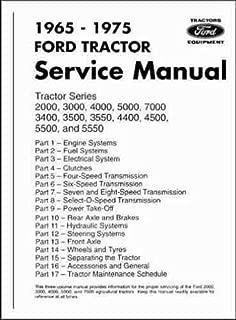 1965-1975 Ford Tractor Repair Shop Manual Reprint 2000 3000 4000 5000 7000
