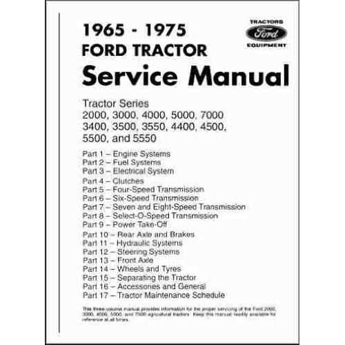 4500 ford backhoe wiring diagram 1965 1975 ford tractor factory repair shop   service manual 2000  1965 1975 ford tractor factory repair