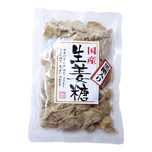 黒糖入り生姜糖 スライス 国産 150g