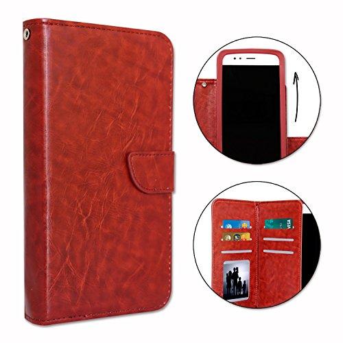 Unbekannt PH26® Klappetui für Hisense L671, Kunstleder, mit doppeltem Klappdeckel innen & Kartenfächer, Magnetverschluss & sichtbare Ziernähte