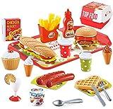BeebeeRun 40 Piezas Alimentos de Juguete,Juguetes Nios 2 Aos 3 Aos,Cocinas de Juguete para nios,Regalos de cumpleaos Educacional Juegos