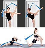 MINGZJ Cinturón de Yoga,Banda de Camilla de Pierna- Instalación fácil en la Puerta - Equipo de Estiramiento de Entrenamiento de Taekwondo de Gimnasia de Baile (Blue)