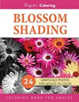 Blossom Shading: Grayscale Photo Coloring Book for Grown Ups (Floral Fantasy Coloring)