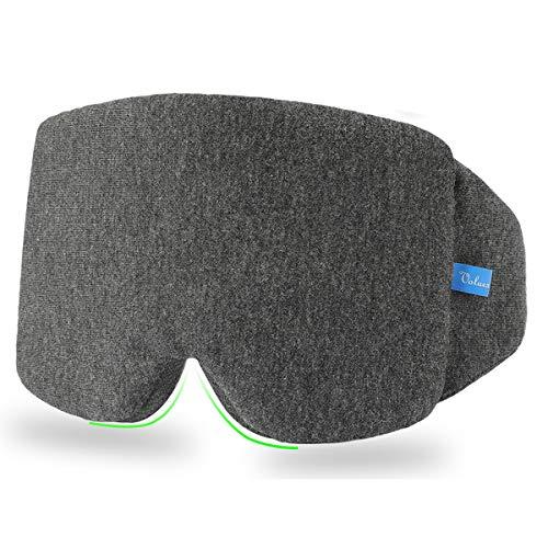 Schlafmaske Damen und Herren, VOLUEX Premium Schlafbrille Nachtmaske,100% Lichtschutz, Super Weich und Bequem, Augenmaske für Reisen, Schichtarbeit und Nickerchen, Inklusive Ohrstöpseln
