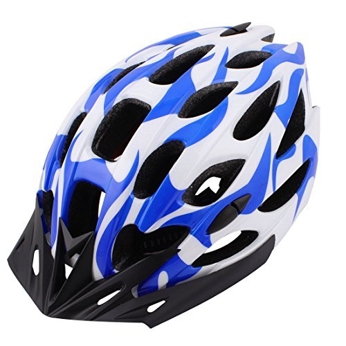 Bicicletas MTB Seguridad Adulto Casco Unisex Azul Blanco Talla L w Visor