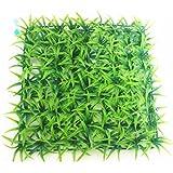 Tapis de gazon artificiel carré en plastique pour gazon artificiel, décoration d'aquarium, fausses décorations d'aquarium (vert)