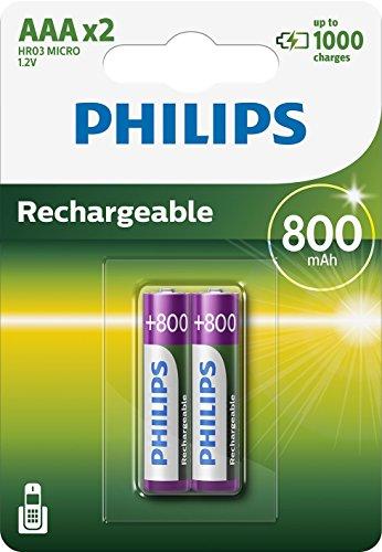 PHILIPS R03B2A80/10 - Multi Life NiMH Akku AAA Micro 800 mAh 2er Pack