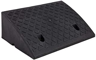Truck Ramps, Black Yellow Plastic Uphill Pad Thicken Non-Slip Car Ramps Hotel Restaurant Service Ramps Outdoor Curb Ramps ...