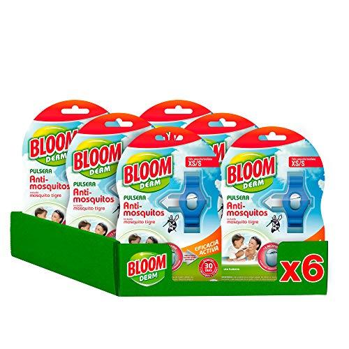 Bloom Derm Pulsera Repelente Anti-Mosquitos para Niños (XS/S) - Pack de 6 Unidades
