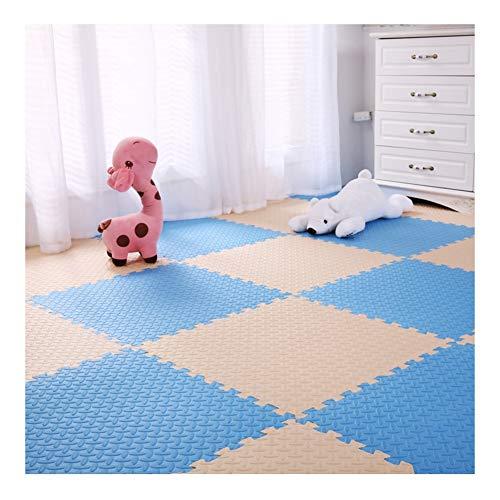ALGFree Schaumstoff Puzzles Spielmatte Krabbelmatte Schutz Fußboden Fitnessstudio Yoga Spielmatten Kind Baby Krabbeln Klettermatte, 4 Muster, 15 Größen (Color : B, Size : 60x60x1.2cm-16pcs)