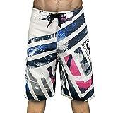 Short Jean Pantalon de Plage à séchage Rapide Summer Beach pour Hommes Short de Rugby Homme Rapide de 4D Rembourré Confortable 34