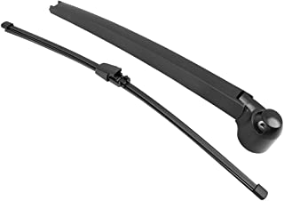 X AUTOHAUX Car Rear Windshield Wiper Blade Arm Set Black 405mm 16 Inch for Volkswagen T5 Caravelle 2003-2019