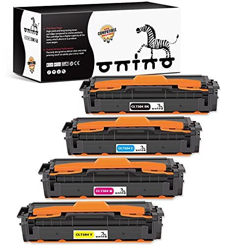 Toner ONINO Compatibile per CLT-P504C CLT-K504S CLT-504 CLT C504S M504S Y504S per Samsung Xpress C1860FW C1810W Toner Samsung C1860 Samsung CLX-4195FW CLX-4195FN CLX 4195 (4pcs)