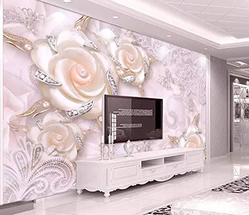Benutzerdefinierte Größe Wallpaper Mural 3D Wallpaper 3D Geprägte Magnolie Pfau TV Hintergrund Tapete Wandbild 300cmx210cm