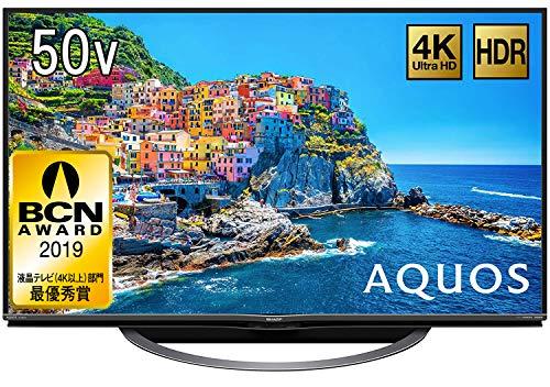 シャープ 50V型 液晶 テレビ AQUOS 4T-C50AJ1 4K Android TV 回転式スタンド 2018年モデル