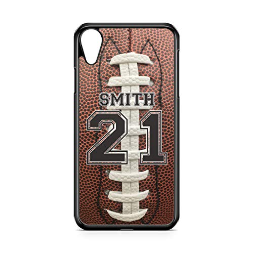 CodeiCases Compatible Case Cover with Football Design and Custom Name and Number for iPhone XR