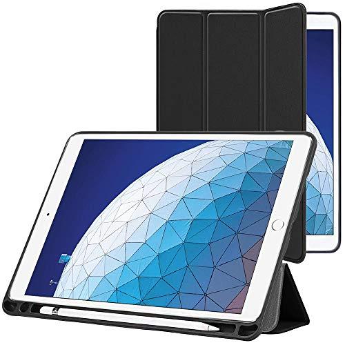 ebestStar - kompatibel mit iPad Air 2019 Hülle Air 3 Schlank Smart Cover [Ultra Dünn] Schutzhülle Etui, Schutz Hülle Ständer, Case Cover Stand, Schwarz [iPad: 250.6 x 174.1 x 6.1mm, 10.5\'\']