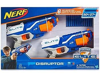 NERF N-Strike Elite Disruptor 6 Dart Rapid Fire NERF Gun Blaster Shoots 90 ft!  Twin Pack