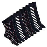 Celodoro Damen Motiv Socken (10 Paar), süße Söckchen aus Baumwolle - Marine 39-42