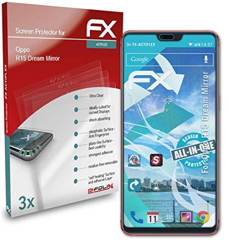 atFolix Schutzfolie kompatibel mit Oppo R15 Dream Mirror Folie, ultraklare & Flexible FX Bildschirmschutzfolie (3X)