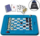 Swimline Pool Toys Set of 2 Games: Floating Game Board and Waterproof Playing Cards