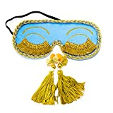 ComfortDecorHouse Audrey Hepburn Sleep Mask with Embroidery Eyelashes Holly Golightly Sleep Masks Breakfast at Tiffany's Eye Mask Sleeping Eye Masks Bridal Shower Favor Night Mask
