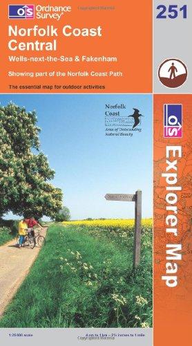 OS Explorer map 251 : Norfolk Coast Central