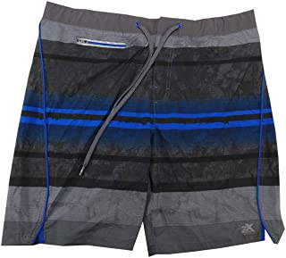 Fleet Street Ltd. Zeroxposur Mens Size Large Comfort Waistband Swim Shorts, Blue Bliss