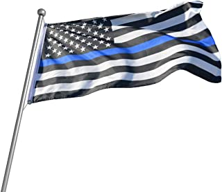 GAGEC American Police Flags Back Thin Blue Line Flag 3x5 ft Enforcement Officers Flags Outdoor Banners Indoor Decoration A