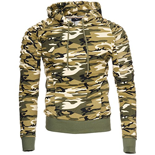 Kayhan Hombre Hoodie New York, Camouflage/Brown(XL)