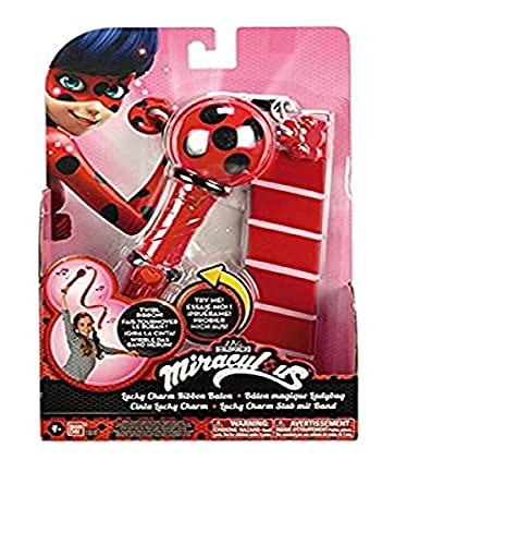 Prodigiosa: Las aventuras de Ladybug- Miraculous: Tales of Ladybug & Cat Noir Disney Cinta Lucky Charm, 30 x 20 cm (Bandai 39796)