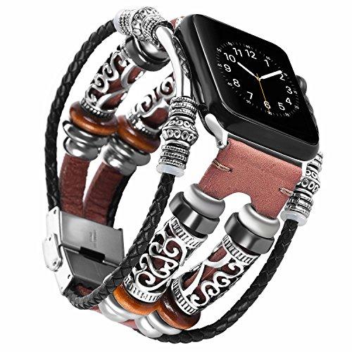 Band voor Apple Watch 38 mm, leer iWatch Series 3 armband, Sport Nike Edition Series 1/2 horlogeband