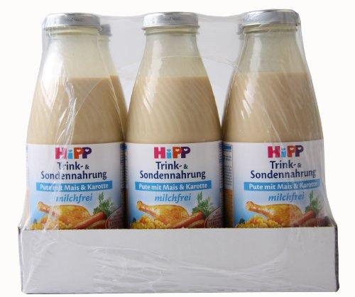 Hipp Trink- u. Sondennahrung Pute mit Mais & Karotte, 500 ml - ohne Milch - 12 Flaschen
