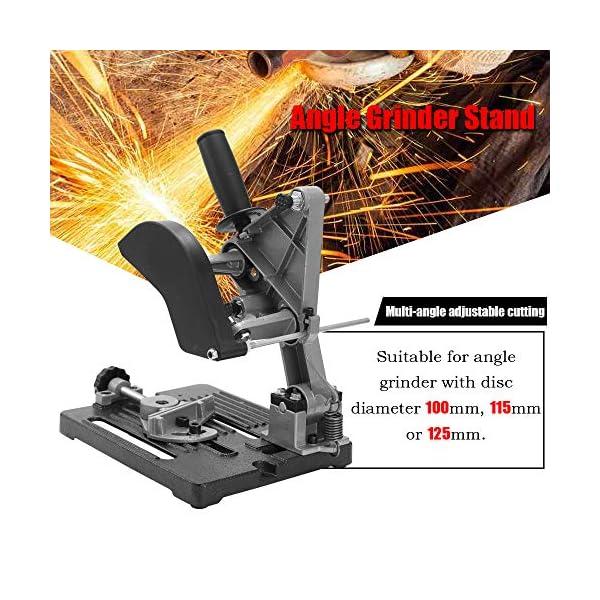Baugger Soporte de Amoladora Angular Multifuncional – Soporte de Aluminio Multifuncional Máquina de Corte de Base de Hierro Herramienta de Mano de Metalurgia Soporte de Amoladora Angular