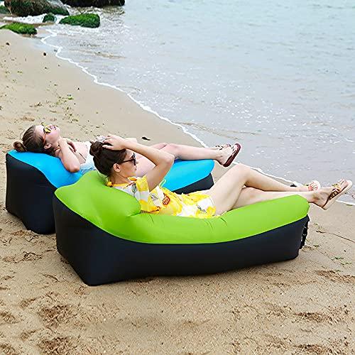Aufblasbares Sofa Luftcouch Tragbares Lounger Outdoor Sitzsofa Air Bett Fuer für Strand Pool Party Park Picknick Camping Wandern Hinterhof