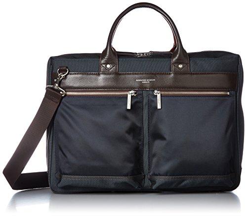 [キャサリンハムネットロンドン] ビジネスバッグ 超軽量 43cm 2ルーム 2WAY ブラック