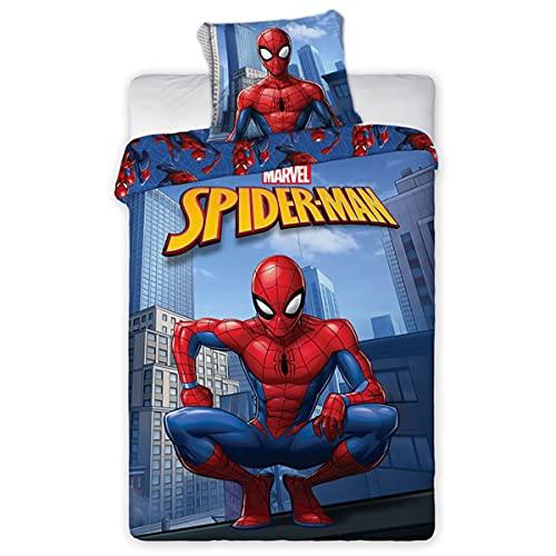 MARVEL Parure de lit en microfibre Spiderman - 140X200 cm + Taie 63X63 cm