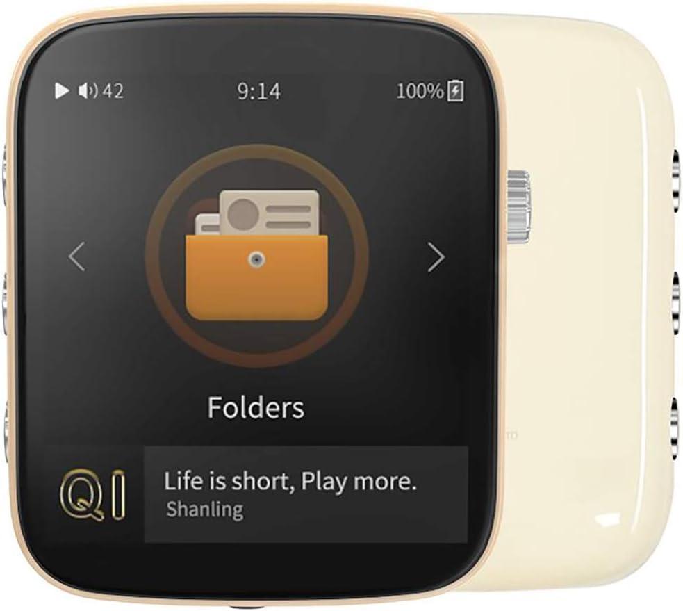 Reproductor de música Hi-Fi portátil con Bluetooth (Marfil)